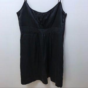 Silk little black dress